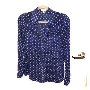 Express Portofino Shirt - Blue Anchor Print